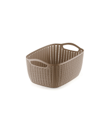 WIDE PLASTIC TAPERED BASKET - S