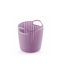 TALL WOVEN PLASTIC BASKET – S