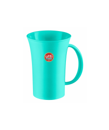 GREEN PLASTIC MUG 460 ml