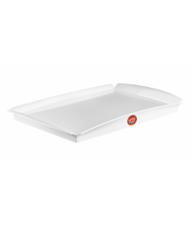 WHITE PLASTIC RECTANGULAR TRAY