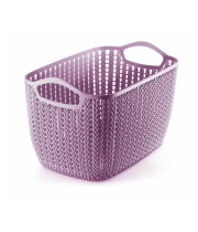 WIDE WOVEN PLASTIC BASKET – XL