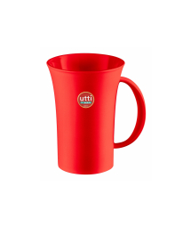 RED PLASTIC MUG 460 ml