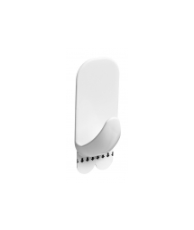 WHITE RECTANGULAR HOOK - L