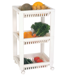 WHEELD FRUIT RACK