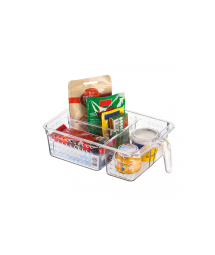 ACRYLIC MULTIUSE ORGANIZER W/ HANDLE 3 PART