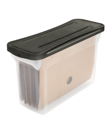 NARROW FILE BOX WITH COVER