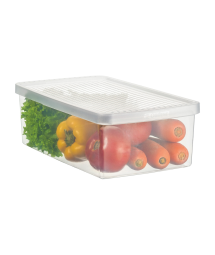 PLASTIC BOX F/ VEGERABLES AND SALAD - M