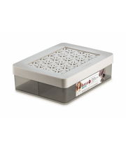 BOX WITH DIVIDER FOR JEWELRY WITH LID S