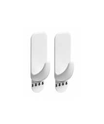 WHITE RECTANGULAR HOOK - S