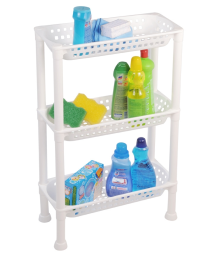 MULTI-USE SHELF WITH 3 TRAYS