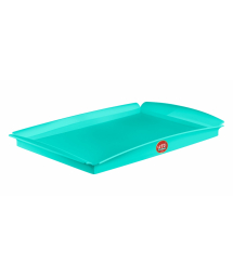33/5000 GREEN PLASTIC RECTANGULAR TRAY